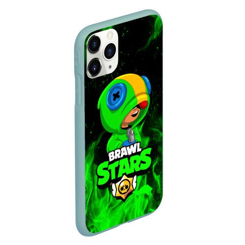 Чехол для iPhone 11 Pro матовый BRAWL STARS LEON | ЛЕОН Фото 01