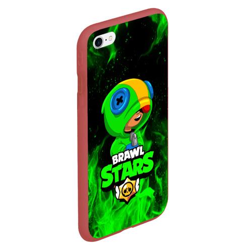 Чехол для iPhone 6/6S матовый BRAWL STARS LEON | ЛЕОН Фото 01