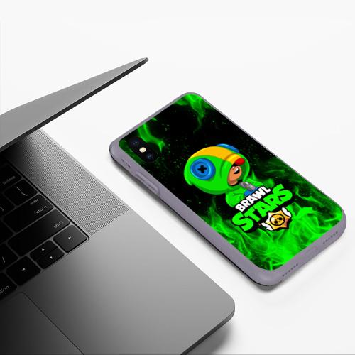 Чехол для iPhone XS Max матовый BRAWL STARS LEON | ЛЕОН Фото 01