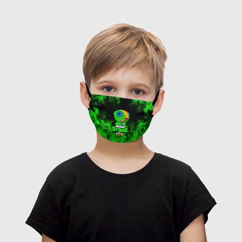 Детская маска (+5 фильтров) BRAWL STARS LEON | ЛЕОН Фото 01