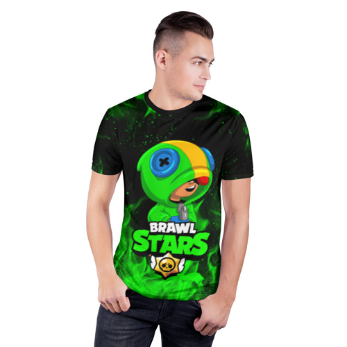 Мужская футболка 3D спортивная BRAWL STARS LEON | ЛЕОН Фото 01