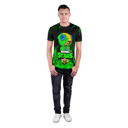 Мужская футболка 3D спортивная BRAWL STARS LEON Фото 01