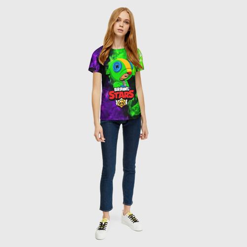 Женская футболка 3D BRAWL STARS LEON Фото 01