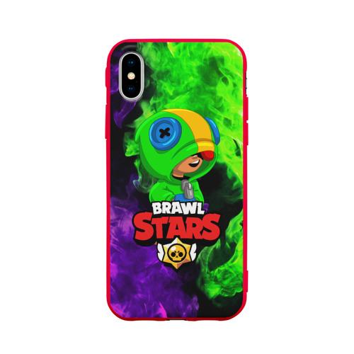 Чехол для iPhone X матовый BRAWL STARS LEON Фото 01