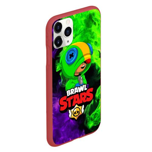 Чехол для iPhone 11 Pro матовый BRAWL STARS LEON Фото 01
