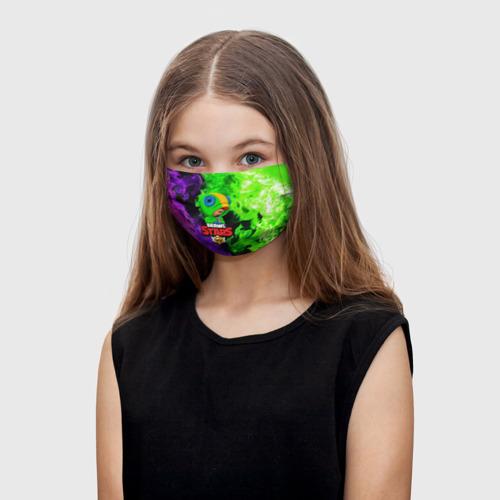 Детская маска (+5 фильтров) BRAWL STARS LEON Фото 01