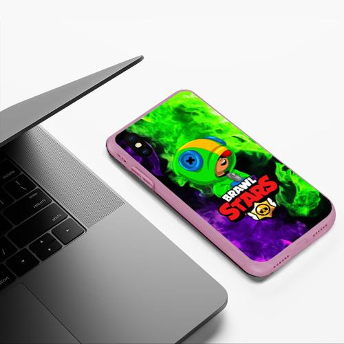 Чехол для iPhone XS Max матовый BRAWL STARS LEON Фото 01