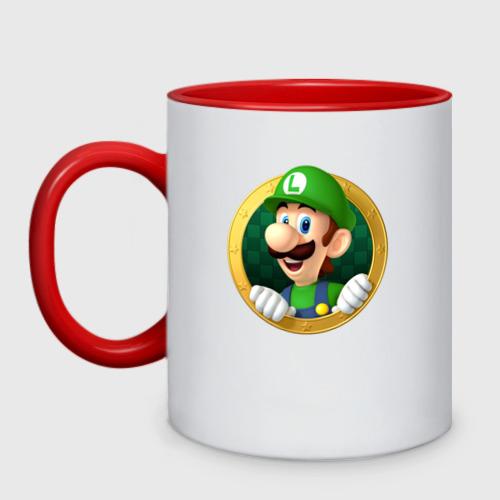 Кружка двухцветная Luigi's Mansion Фото 01