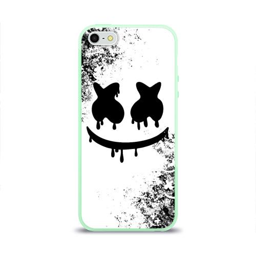 Чехол для iPhone 5/5S глянцевый Marshmello Фото 01