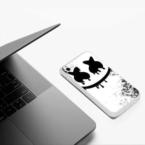 Чехол для iPhone 6/6S матовый Marshmello Фото 01