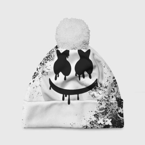 Шапка 3D c помпоном Marshmello Фото 01