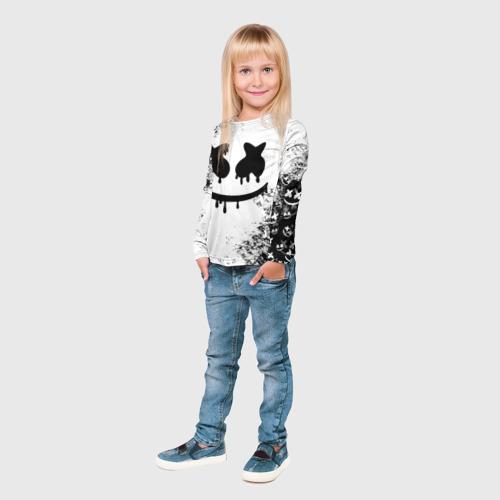 Детский лонгслив 3D Marshmello Фото 01
