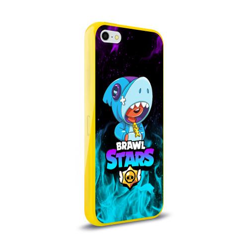 Чехол для iPhone 5/5S глянцевый BRAWL STARS LEON SHARK Фото 01