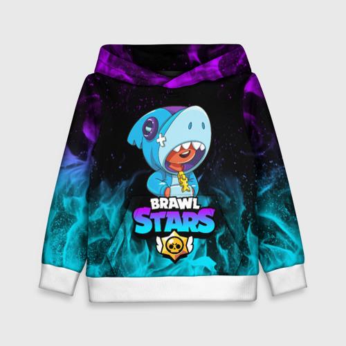 Детская толстовка 3D BRAWL STARS LEON SHARK   ЛЕОН АКУЛА Фото 01