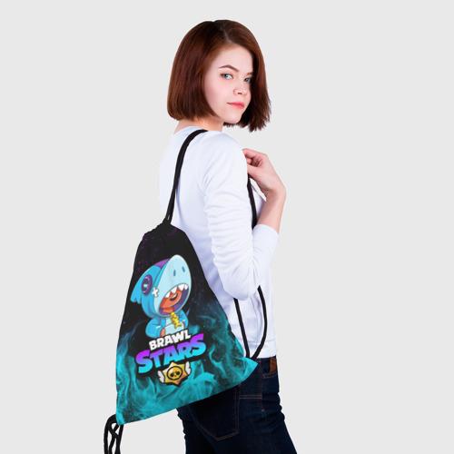 Рюкзак-мешок 3D BRAWL STARS LEON SHARK Фото 01