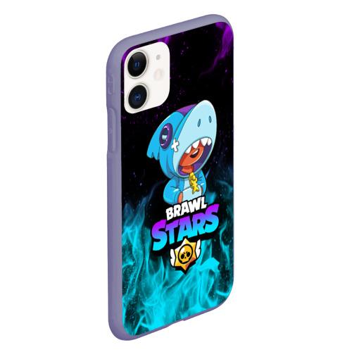 Чехол для iPhone 11 матовый BRAWL STARS LEON SHARK Фото 01