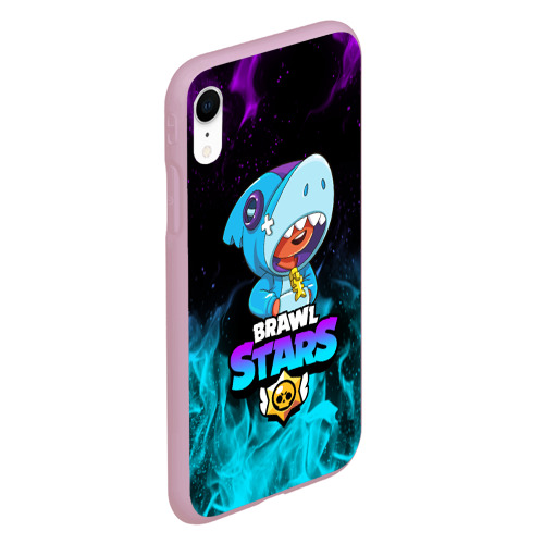 Чехол для iPhone XR матовый BRAWL STARS LEON SHARK Фото 01