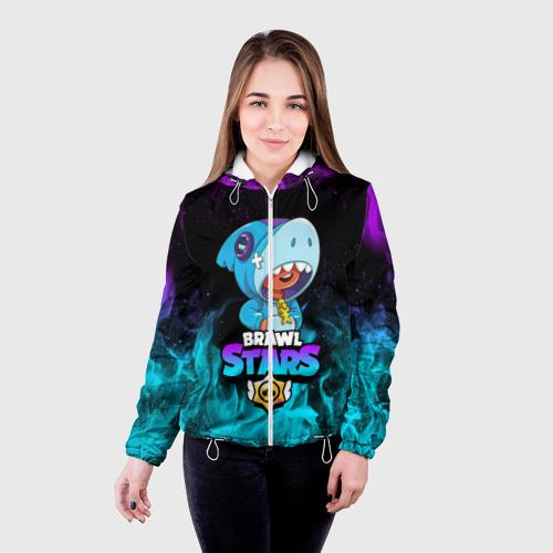Женская куртка 3D BRAWL STARS LEON SHARK Фото 01