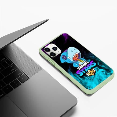 Чехол для iPhone 11 Pro Max матовый BRAWL STARS LEON SHARK Фото 01