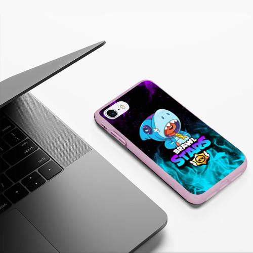 Чехол для iPhone 7/8 матовый BRAWL STARS LEON SHARK Фото 01