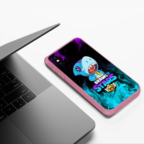 Чехол для iPhone XS Max матовый BRAWL STARS LEON SHARK Фото 01