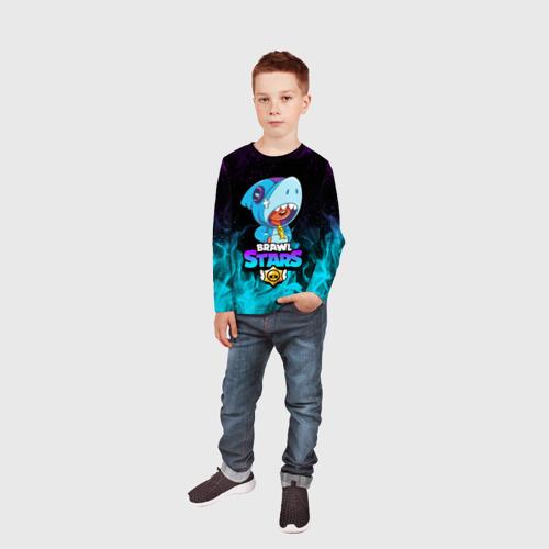 Детский лонгслив 3D BRAWL STARS LEON SHARK Фото 01