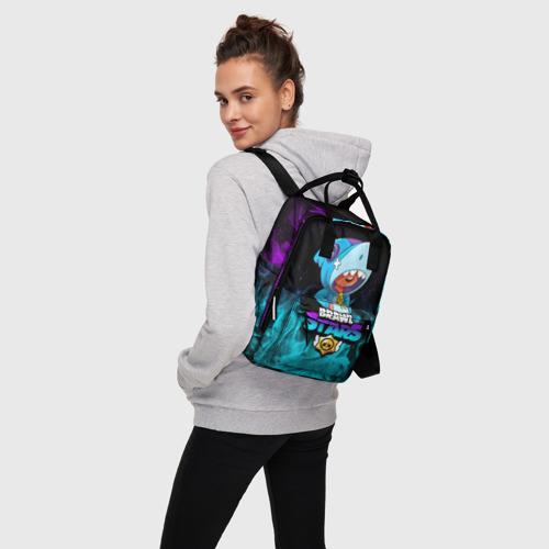 Женский рюкзак 3D BRAWL STARS LEON SHARK | ЛЕОН АКУЛА Фото 01