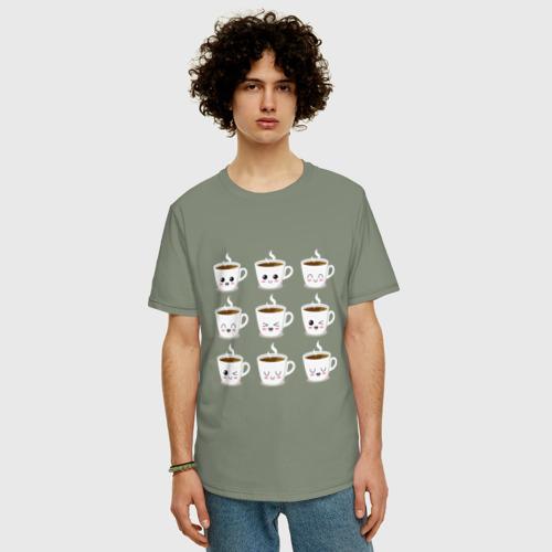 Мужская футболка хлопок Oversize coffee Фото 01