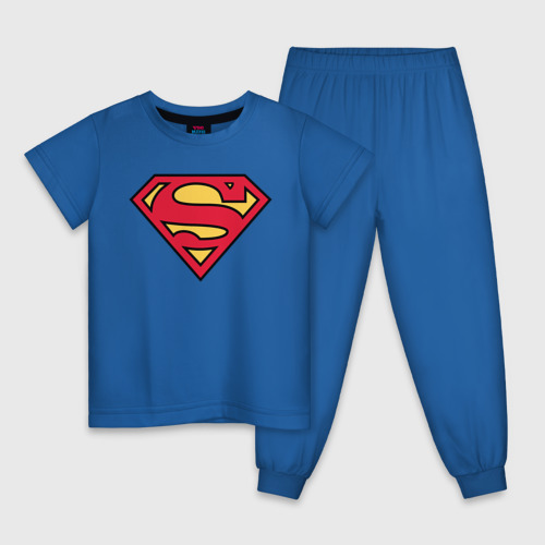 Детская пижама хлопок Superman logo Фото 01
