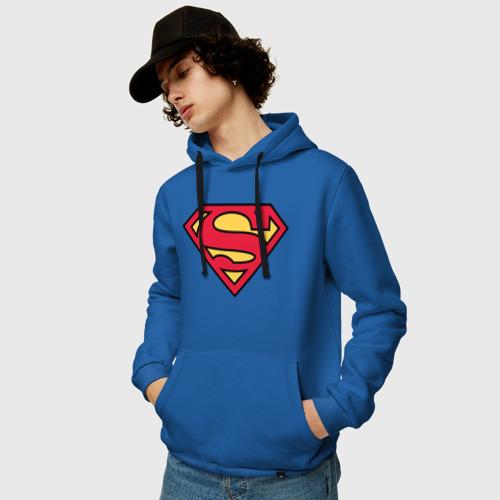 Мужская толстовка хлопок Superman logo Фото 01