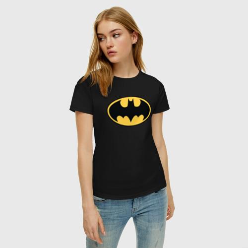 Женская футболка хлопок Batman logo Фото 01