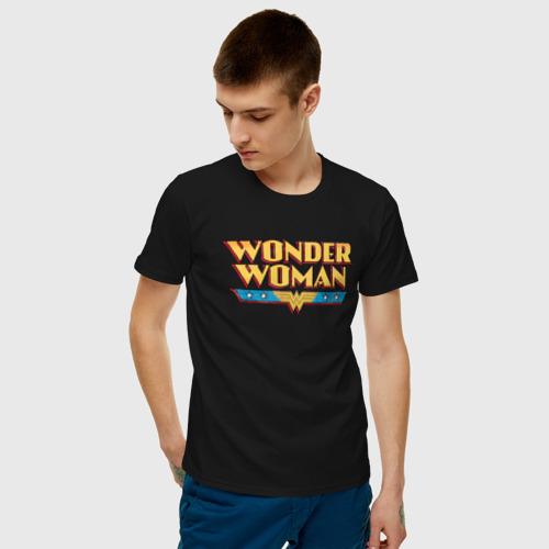 Мужская футболка хлопок Wonder Woman Text Logo Фото 01