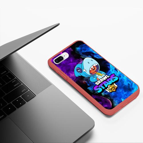 Чехол для iPhone 7Plus/8 Plus матовый BRAWL STARS LEON SHARK   ЛЕОН Фото 01