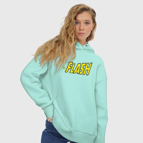 Женское худи Oversize хлопок The Flash Фото 01