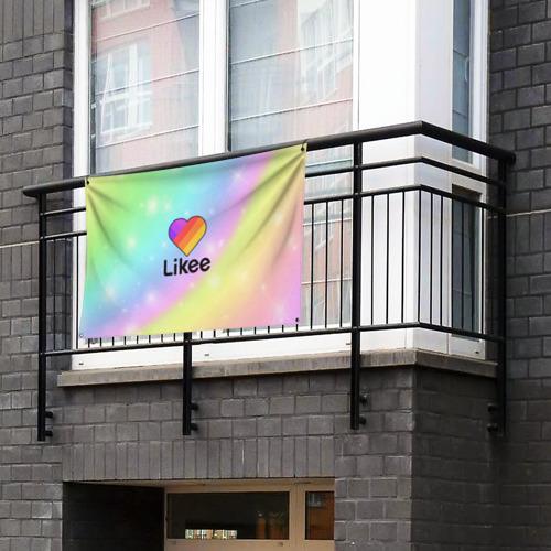 Флаг-баннер LIKEE Фото 01