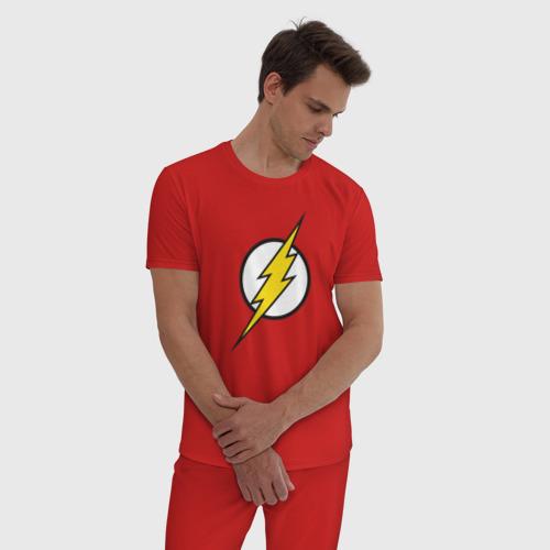 Мужская пижама хлопок Flash Фото 01