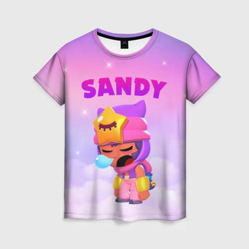 Женская футболка 3D BRAWL STARS - SANDY Фото 01