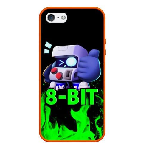 Чехол для iPhone 5/5S матовый Brawl Stars 8-BIT Фото 01