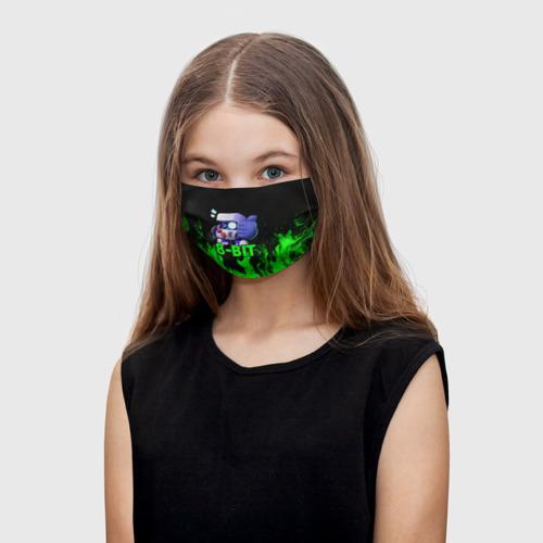 Детская маска (+5 фильтров) Brawl Stars 8-BIT Фото 01