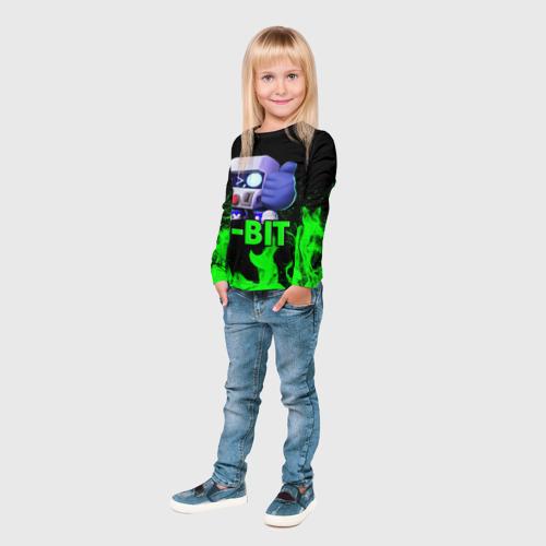 Детский лонгслив 3D Brawl Stars 8-BIT Фото 01