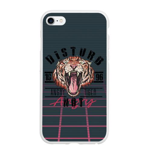 Чехол для iPhone 6/6S матовый Злой тигр Angry Tiger Фото 01