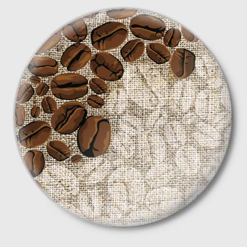 Значок Кофейные зёрна (вышивка) Фото 01