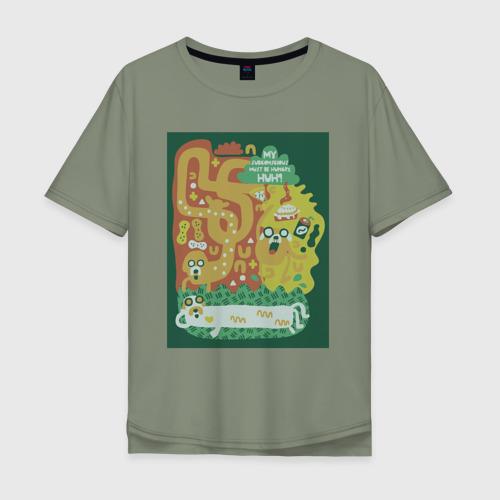 Мужская футболка хлопок Oversize Время приключений Jake Фото 01
