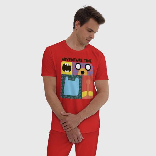 Мужская пижама хлопок Время приключений Фото 01
