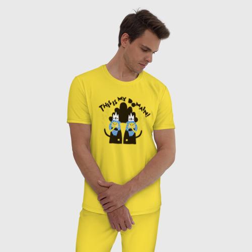 Мужская пижама хлопок This is my domain! Фото 01