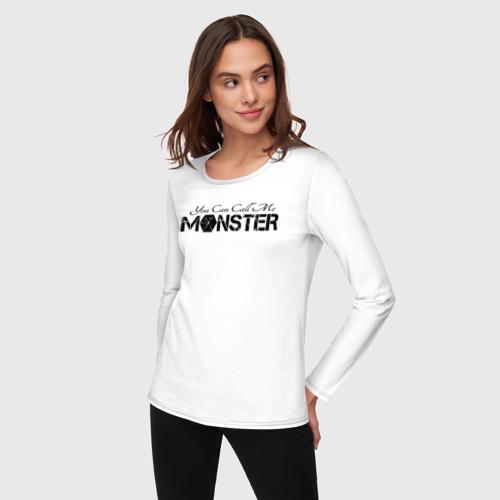 Женский лонгслив хлопок You can call me monster Фото 01
