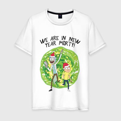 Мужская футболка хлопок WE ARE IN NEW YEAR MORTY! Фото 01