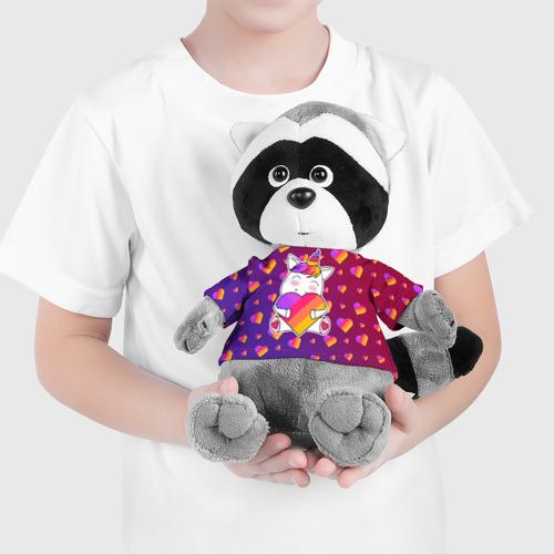 Игрушка Енотик в футболке 3D LIKEE - ЕДИНОРОГ Фото 01