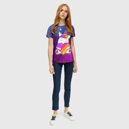 Женская футболка 3D LIKEE - SPACE UNICORN Фото 01