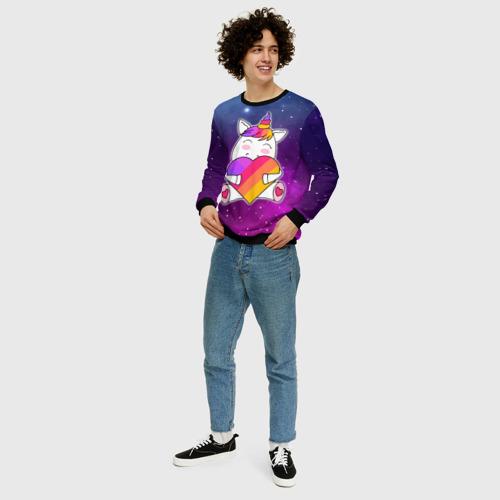 Мужской свитшот 3D LIKEE - SPACE UNICORN Фото 01